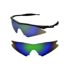 NEW POLARIZED GREEN CUSTOM SWEEP LENS FOR OAKLEY M-FRAME SUNGLASSES